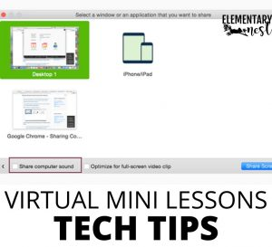 screen sharing from Zoom for virtual teaching