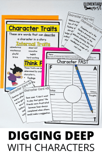 Character analysis activity for fourth grade.