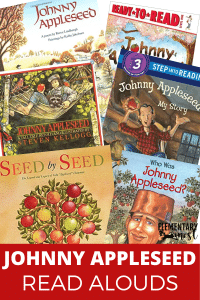 Johnny Appleseed read aloud books or mentor texts.