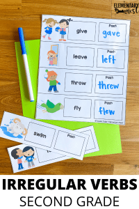 Irregular Verbs activity- Tips for Teaching Verb Tenses