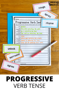 Progressive verb tenses activity