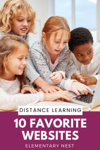 Kids learning on websites for distance learning