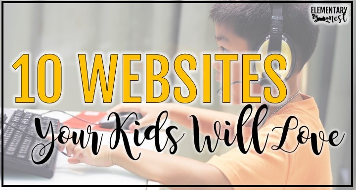 Kid on computer- Websites for distance learning that students will love