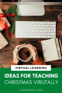 Ideas for Teaching Christmas Virtually Pin Image
