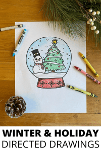Winter/holiday/Christmas directed drawing, classroom activity