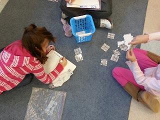Children working on math