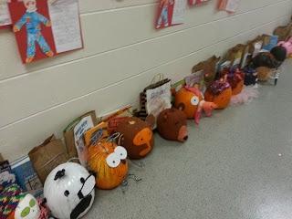 Hallway view of pumpkin reports