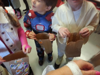 Trick-or-treating in the classroom