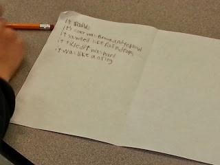 Student working on STEM activity