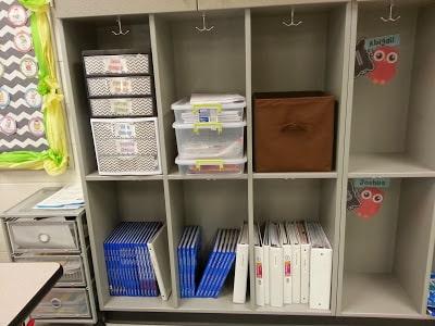 Organized cubbies