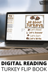 All About Turkeys Digital Reading Flip Book