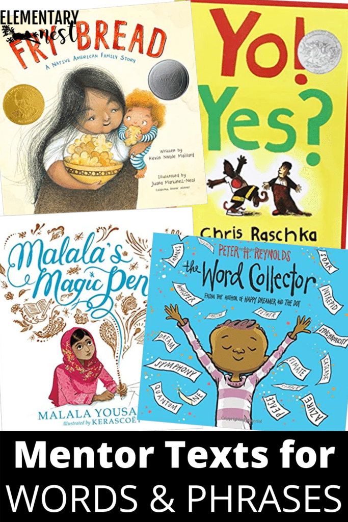Mentor texts for words and phrases