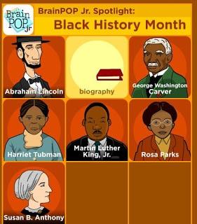 Brain Pop Jr.'s Black History Month material