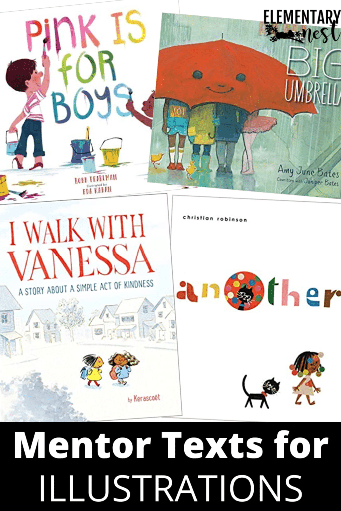 Mentor texts for illustrations