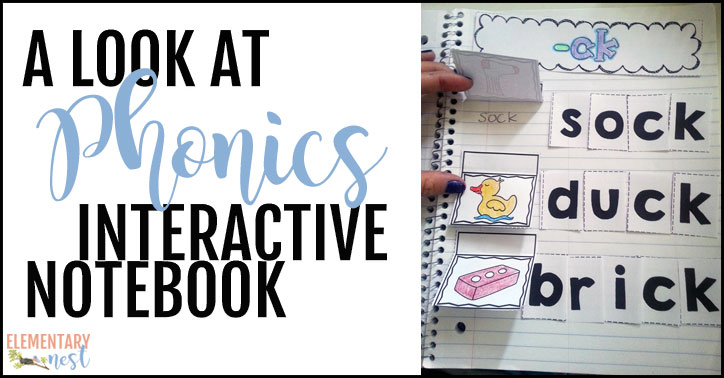 A look at phonics interactive notebook
