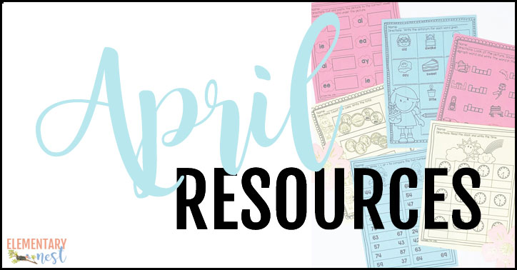 April resources for teachers