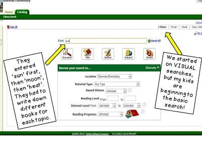 Visual sample of website