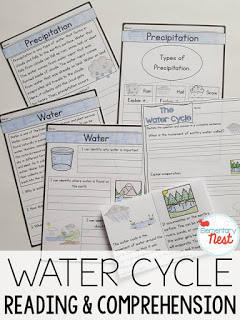Water cycle reading and comprehension