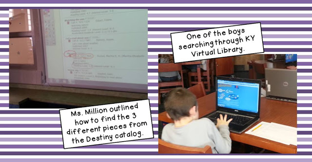 Students doing library research