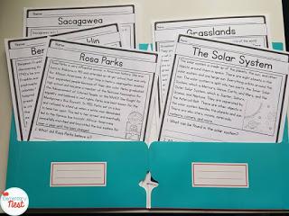 Reading passages folder