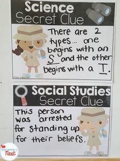 Science and social studies secret clue