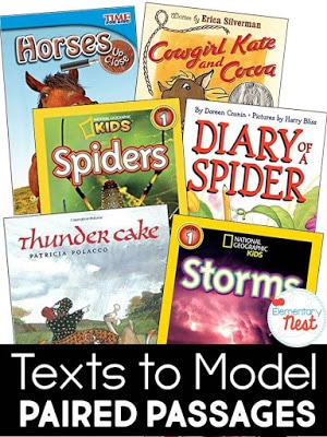 Texts to model paired passages