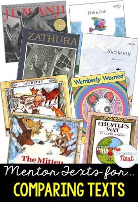 Mentor texts for comparing texts