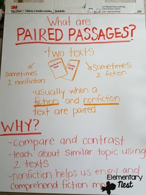 Teaching paired passages in primary classrooms- tips to help students engage in paired passages or paired texts- reading activities.