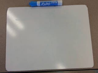 Whiteboard and marker