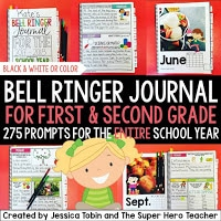 Bell ringer journal for first and second grade