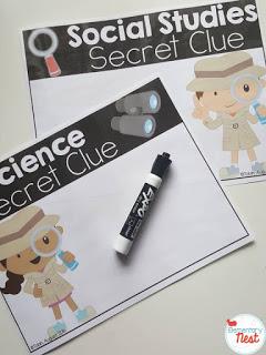 Social studies and science secret clue project