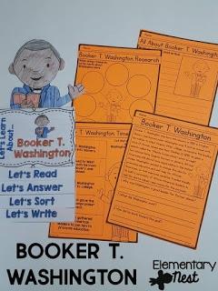 Booker T Washington learning actiivty