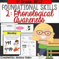 1st grade foundational skills phonological awareness