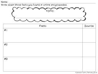 Freebie document for teachers