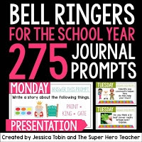 Bell ringers for the school year journal prompts