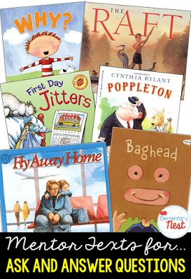 Mentor texts for ask and answer questions
