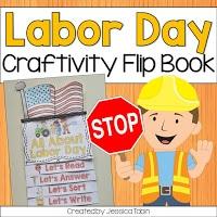 Labor Day craftivity flip book