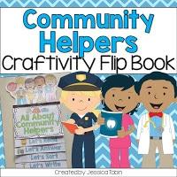 Community helpers craftivity flip book