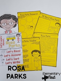 Rosa Parks learning material