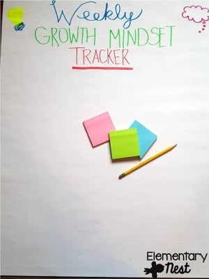 Weekly growth mindset tracker