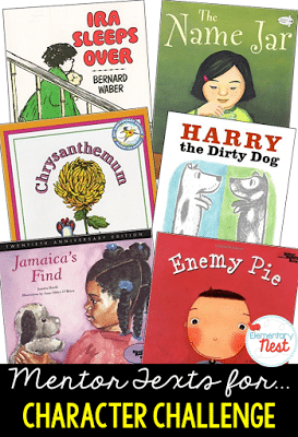 Mentor texts for character challenge