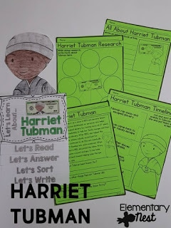 Harriet Tubman learning activity