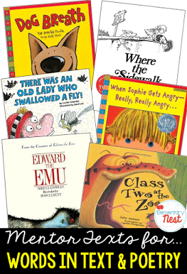 Mentor texts for words in text & poetry