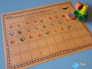 Fall stamping math activity- Halloween Math Ideas for Kids