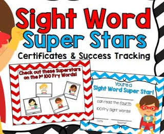 Sight Word Super Stars