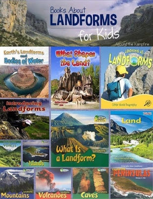 Books about landforms for kids
