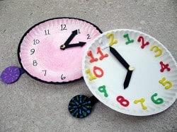 Paper plate clocks
