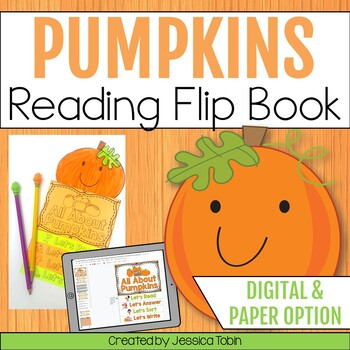 Pumpkins reading flip book