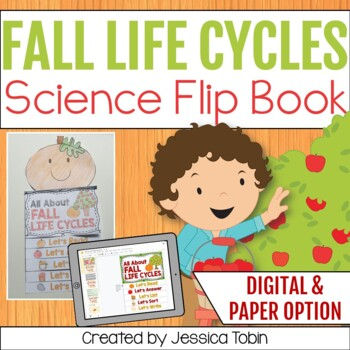 Fall life cycles science flip book