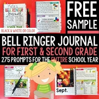 Bell ringer journal for first and second grade.